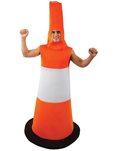 Road Cone Fancy Dress Traffic Cone Stag Night Costume Funny Outfit by Orion Costumes by Orion Costumes