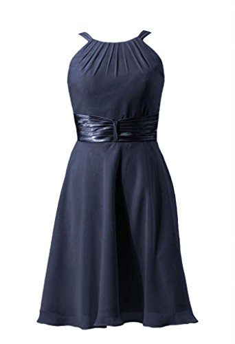 navy Dress BM3728 Bridesmaid Cocktail DaisyFormals 35 Dress Chiffon Halter Short Party qwwBU0v