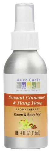 Aura Cacia Room and Body Mist, Sensual Cinnamon and Ylang Ylang, 4 Fluid - Perfume Aura Cacia Natural