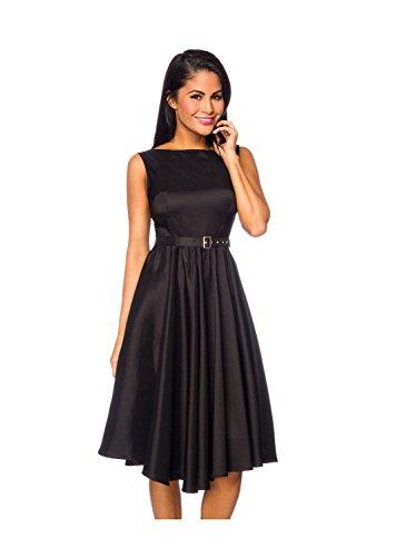 amp; good Kleid luxury mit Damen Gürtel Dessous Satin Schwarz STqCwvAx