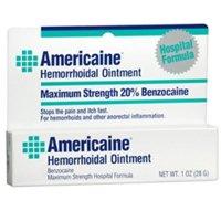 Americaine Hemorrhoidal Ointment Maximum Strength 20% Benzocaine 1 oz ( Pack of 2)