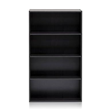 Furinno 11209EX Pasir 4 Tier Open Shelf, Espresso