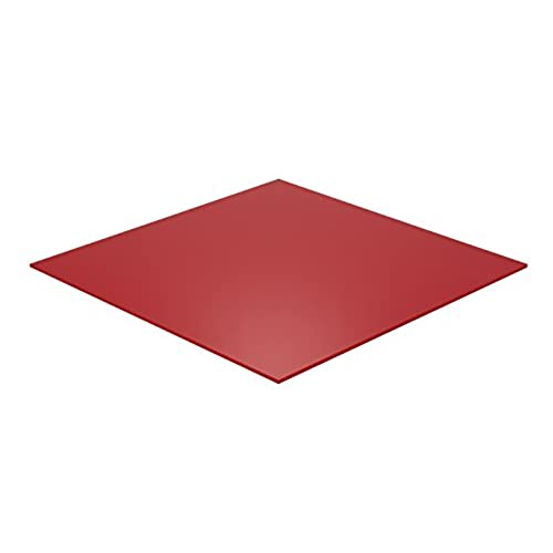 "Cheap Falken Design RD2157-1-8/1010 Acrylic Red Sheet, Translucent 4%, 10"" x 10"", 1/8"" Thick free shipping"