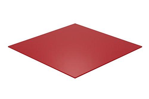 (Falken Design RD2157-1-8/1224 Acrylic Red Sheet, Translucent 4%, 12