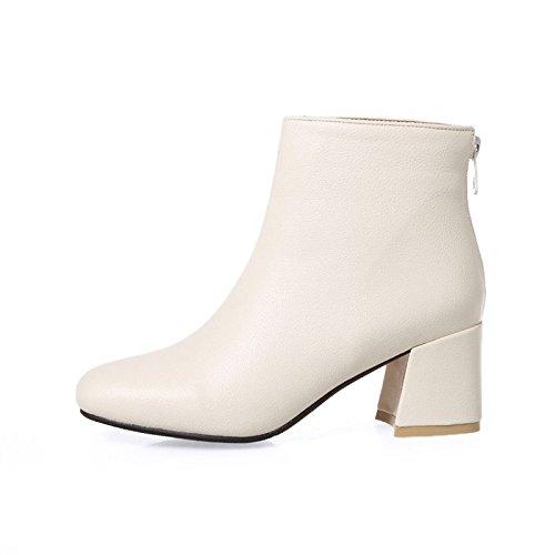 noche botas Office Carrera Beige de Partido combate botas PU moda botas sintético amp; microfibra Otoño Invierno de La mujer de Casual WIKAI Polipiel y traje xUqIga