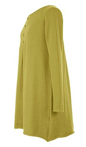 61c4ceb9bbf Ladies Italian Knitted 4 Button Front Angora Wool Mix Lagenlook Women  Jumper Dress Plus Size  Amazon.co.uk  Clothing