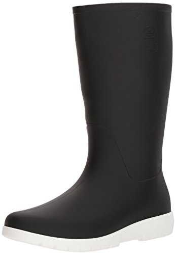 Kamik Women's Jessie Rain Boot, Black and White, 7 Medium US