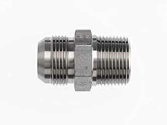 3//8-18 NPTF x 3//8-18 NPTF Thread Brennan Industries 5405-06-06-SS Stainless Steel Straight Expander Fitting