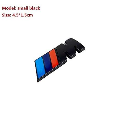 Glossy Black Three Colors Strips M Chrome Emblem Car Styling