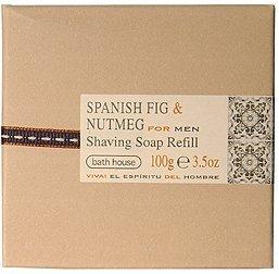 Bath House Spanish Fig & Nutmeg Shaving Soap Refill 100g ()