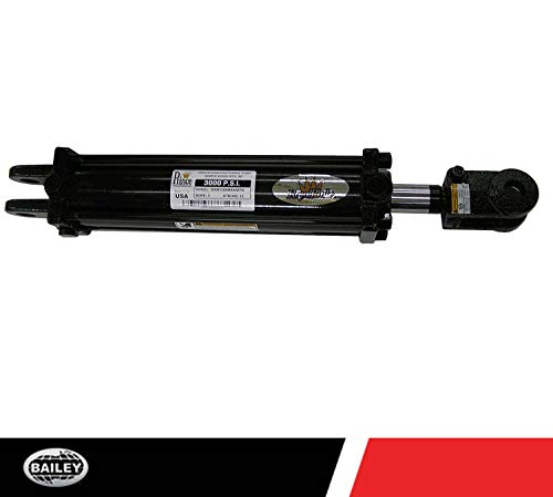 Prince B300240ABAAA07B Double-Acting Tie-Rod Hydraulic Cylinder, Clevis Mounting, Painted, 3