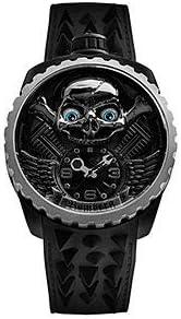[ボンバーグ] メンズ 腕時計 自動巻き 懐中時計 ポケットウォッチ ボルト68 BOLT-68 スカルライダー エタニティブルー オートマチック BS47APBA.056-3.3 革ベルト ブラック 黒