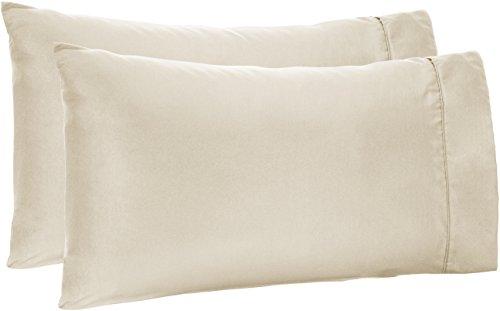 AmazonBasics Light-Weight Microfiber Pillowcases - 2-Pack, King, Beige