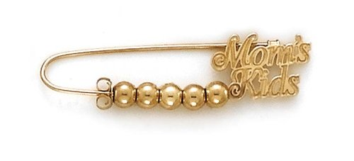 14k Yellow Gold Moms Kids 5 Separators Pin by JewelryWeb