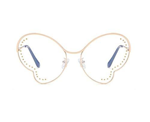Golden decoración moda de sol FlowerKui forma gafas marco gafas Unisex mariposa vqfBfO
