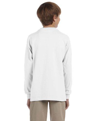 Jerzees Youth Heavyweight Blend Long-Sleeve T-Shirt, Wht, Small (Blend Jerzees Heavyweight Youth)