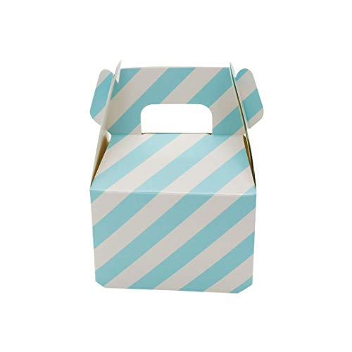 12Pcs Polka Dot Stripes Candy Box Paper Candy Box Gift Bag Chocolate Packaging Children Birthday Party Wedding Decorationsr,Blue Stripe,8X10Cm Blue Polka Dot Tissue Box