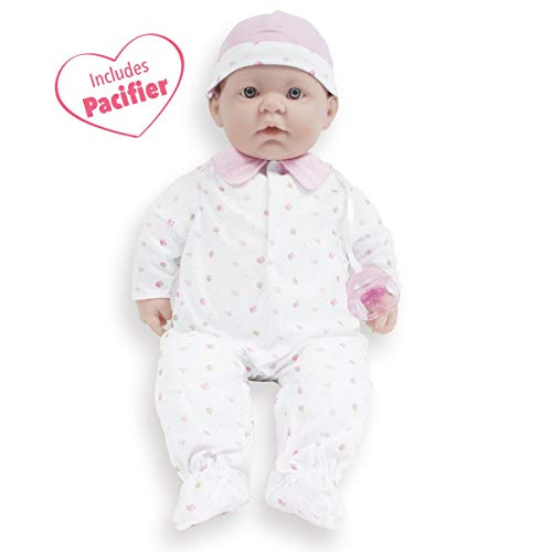 JC Toys, La Baby 20-inch Soft Body Pink Play Doll - For Children 2 Years Or Older, Designed by Berenguer (A Doll That Looks Like My Child)