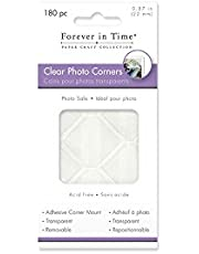 Forever in Time PC050Forever in Time Photo Corners Adhesive Clear Corner Mounts, 7/8-Inch, 180 Per Package