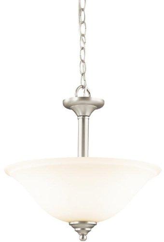 Kichler 3694NI Wynberg Pendant/Semi-Flush 2-Light, Brushed Nickel