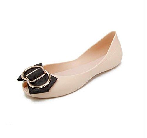 Women's shoes, flat comfortable women's sandals, non-slip sandals, hollow fashion jelly shoes Flat Sandals,Fashion sandals (Color : A, Size : 39) A