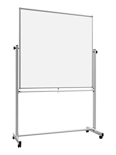 Luxor Office 48'' x 48'' Double-Sided Magnetic Whiteboard by Luxor