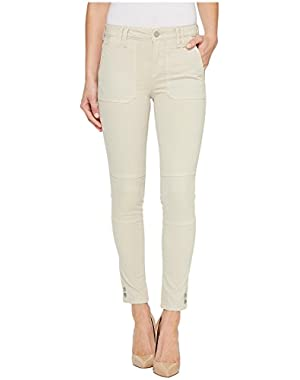 Jeans Women's Garment Dyed Cargo Ankle Skinny Pant