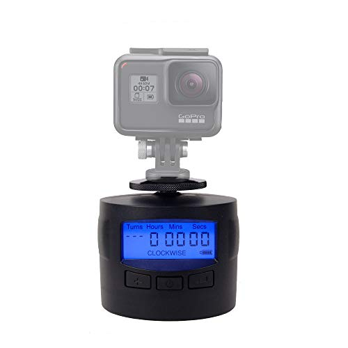 TurnsPro - Time Lapse Camera Mount - Panning Rotating 360 for GoPro DSLR iPhone. Motorised Pan Head for Panoramic Photos