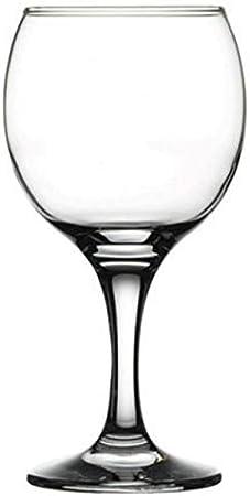 Pasabahce, Bistro Series, Copas di vino tinto, de 225 ml, Juego de 6, aptas para lavavajillas y resistente a la rotura