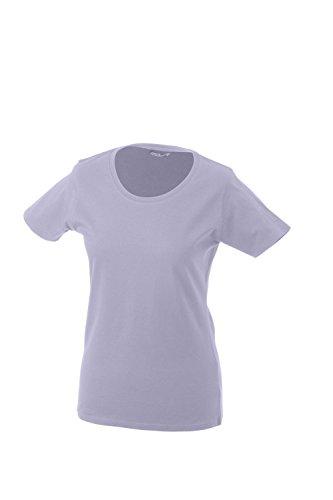 James & Nicholson - Camiseta - redondo - manga 3/4 - Opaco - para mujer lilac