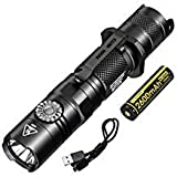 NITECORE MT22C 1000 Lumen Tactical Compact LED Flashlight Featuring Infinitely Variable Brightness Rotary