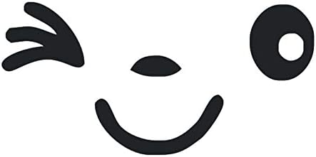JYKJ Stickers 2 St/ück Reflective s/ü/ßes L/ächeln Auto Aufkleber R/ückspiegel Aufkleber Auto Styling Cartoon for alle Autos Auge Gesicht Aufkleber Aufkleber L/ächeln cool Color Name : Silver