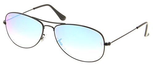 Cockpit Bundle Ban Shiny Ray Gradient Sunglasses Black Aviator Items Mirror Rb3362 2 blue BdEwwqX