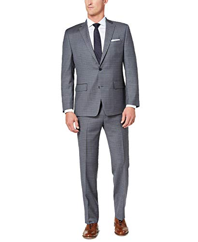 (Michael Kors Men's Classic-Fit Light Grid Suit (Light Grey, 44 Reg/37W))