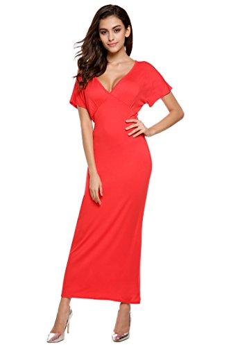 ZEARO Damen Kleider sexy deep VAusschnitt Partykleider elegant hohe ...