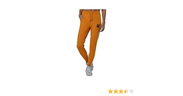 Sik Silk Cuffed Runner Tape Joggers – Yellow (M): Amazon.es: Ropa ...