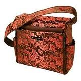 Petunia Pickle Bottom Shoulder Diaper Bag - Coral Coffee Roll