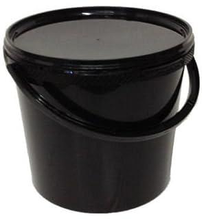 Ltr Noir 5 L Litre Plastique seaux avec Couvercles x 20