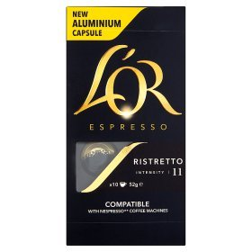 Lor Espresso Ristretto Intensity 11 Nespresso Compatible Coffee Capsules