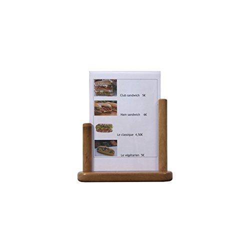 Genware Nev-pft-te-la PVC Table Tableau avec insert en teck, grande, 21cm x 30cm,