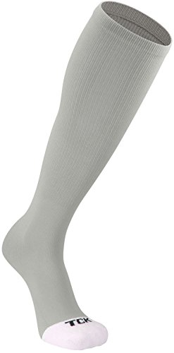 TCK Prosport Performance Tube Socks (Grey, Medium) ()