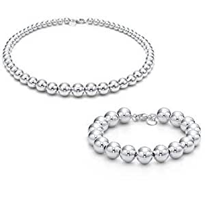 Tiffany And Co Sets Bead Bracelet And Necklace Silver 013