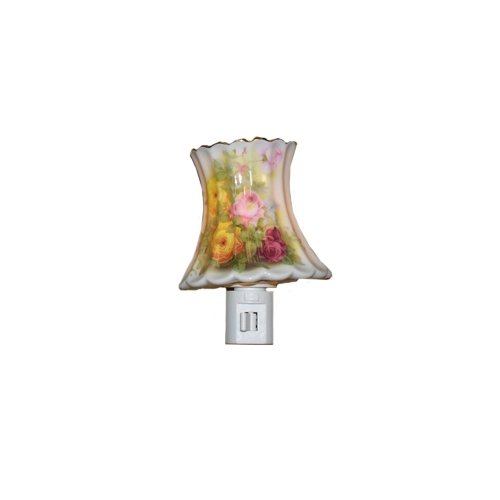(Green Pastures Wholesale Yellow Rose Porcelain Night Light, 3-Inch by 3-Inch by 4-Inch)