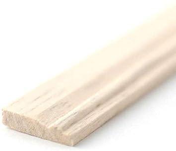 Melody Jane Dollhouse Skirting Board 18 x 5//8 Baseboard 457 x 15mm Bare Wood