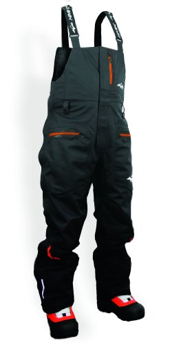 HMK Men's Cascade 3 Layer Shell Bib Pants (Black, X-Large (Sled Shell)