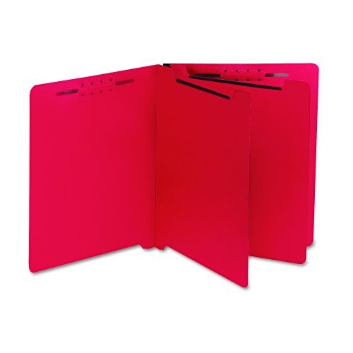 S J Paper S59727 S J Paper Gussco End Tab Classification Folders, Letter, 6-Section, Red, 25/Box by SJ PAPER