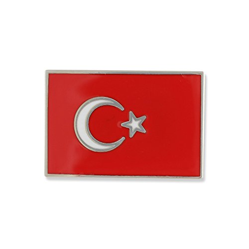 Turkish Flag al bayrak White Star & Crescent Turkey National Flag Lapel Pin- 1 Pin