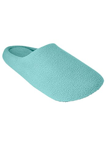 Dreams & Co. Women's Plus Size Clog Slipper with Cushioned Insoles Azure,L9/10 (Azure Footwear)