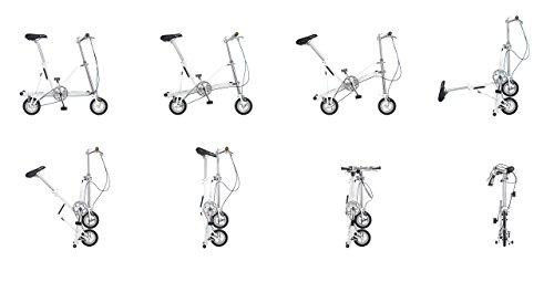 Bicicleta plegable CarryMe DS (Dual Speed) roja: Amazon.es: Deportes y aire libre