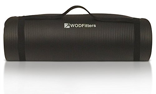 WODFitters-Workout-Mat-for-Exercise-Yoga-Pilates-and-Stretching--Thick-For-Maximum-Joint-Protection-Comfort-Slip-Resistant-Lightweight-Carrying-Strap-Bonus-Carrying-Bag